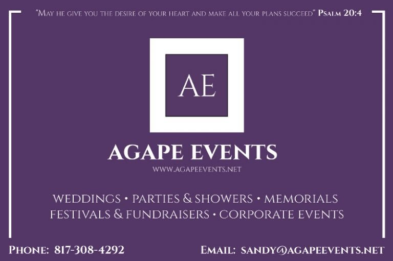 Agape Events ad