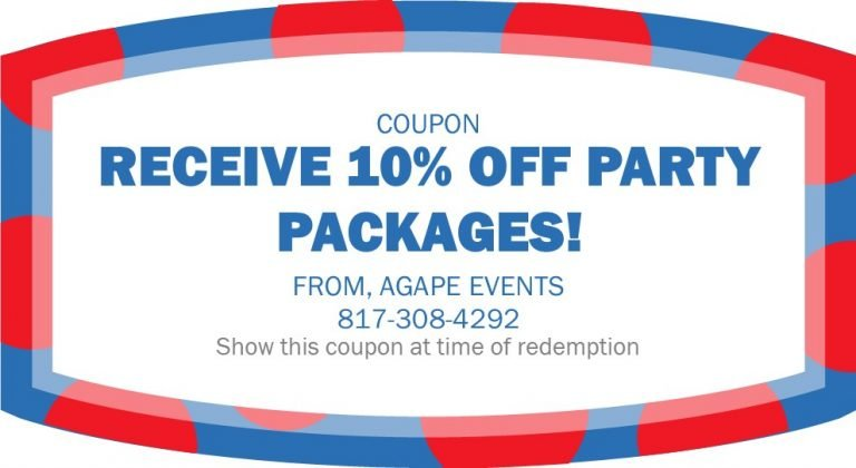 Agape Events coupon