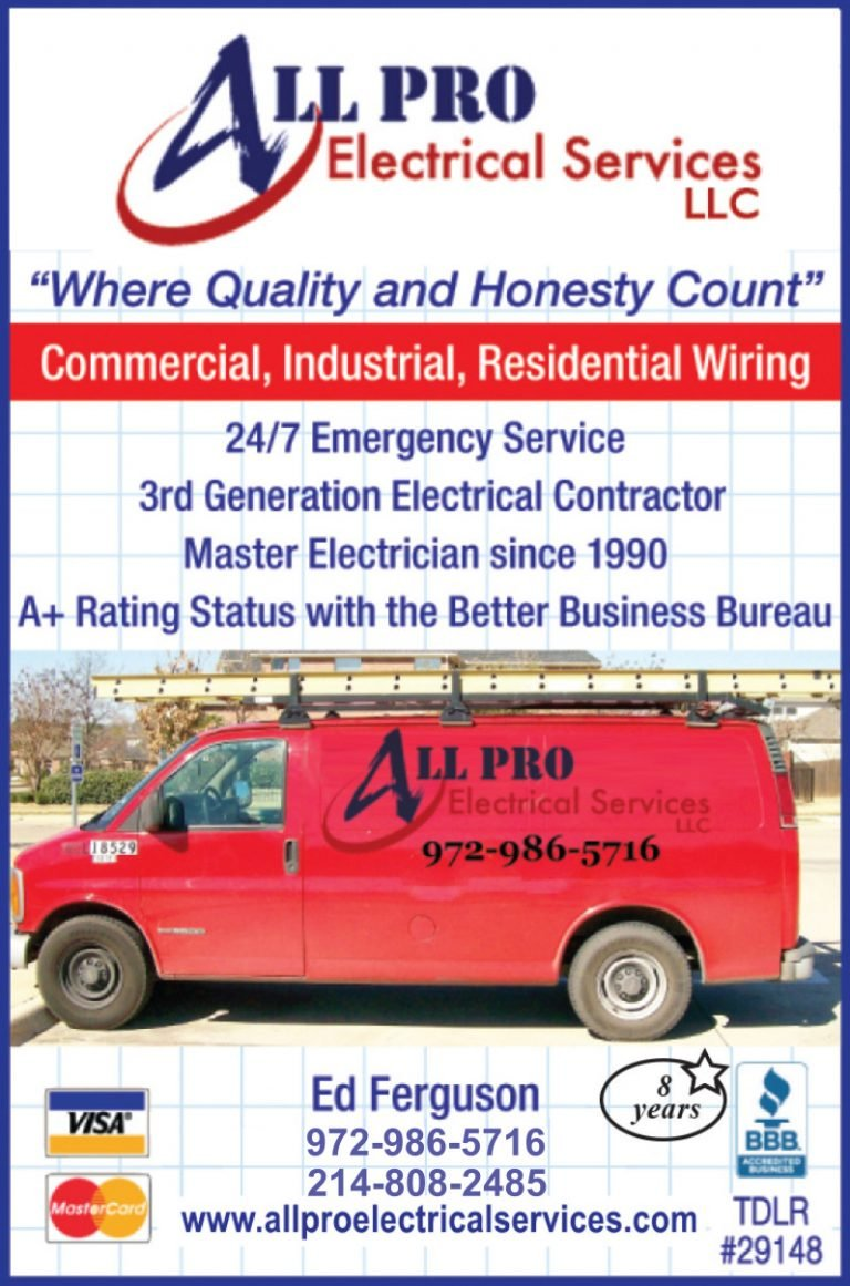 All Pro Electrical Services ad