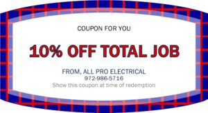 All Pro Electrical Services coupon