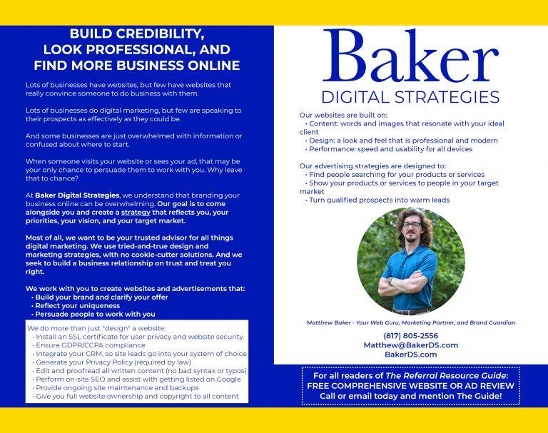 Baker Digital Strategies ad