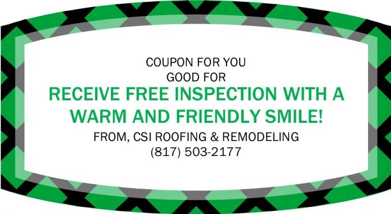 CSI Roofing and Renovations coupon