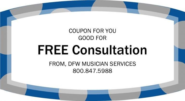 DFW Musicians Services coupon