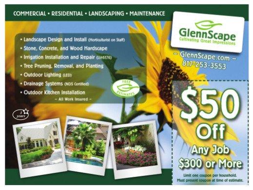 GlennScape Landscaping ad