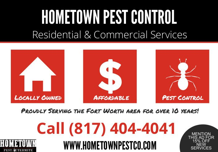 Hometown Pest Control ad