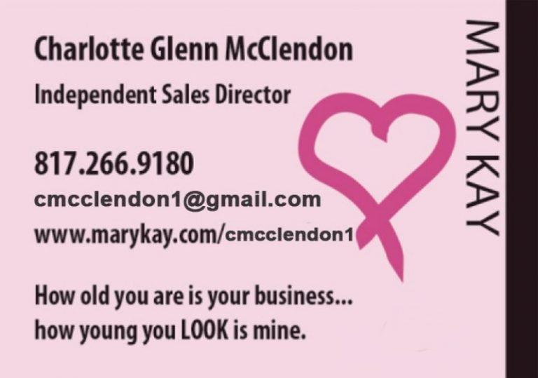 Mary Kay — Charlotte Glenn McClendon ad