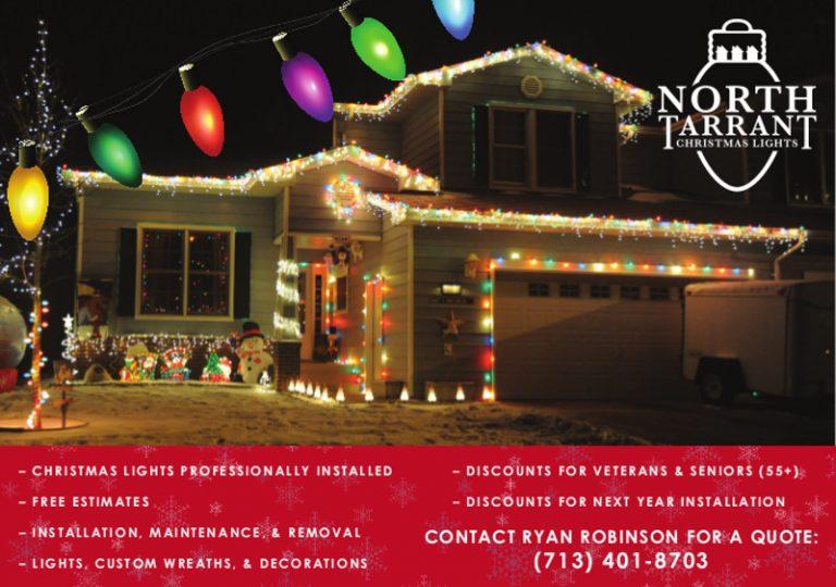 North Tarrant Christmas Lights ad