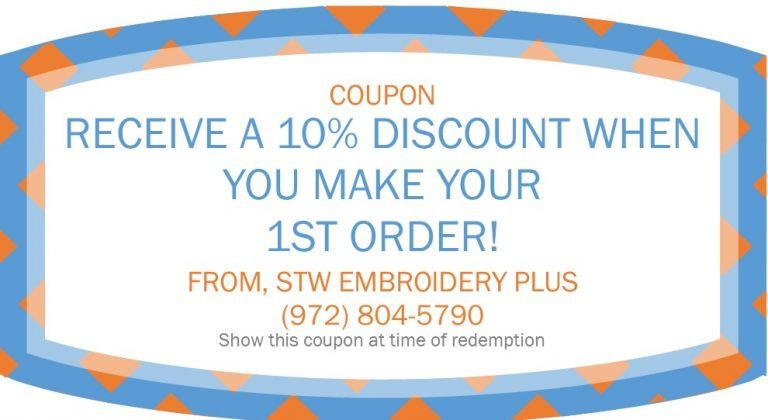 STW Embroidery Plus coupon